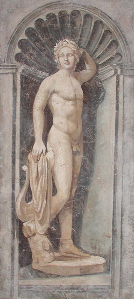 Apollo Statue Fresco