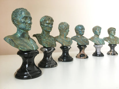 Vespasian Bust (Green Bronze)