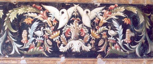 Ornamental Frieze in Black Fresco