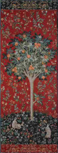 Medieval Orange Tree Portiere Tapestry