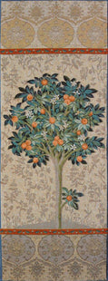 Natural Orange Tree Portiere Tapestry