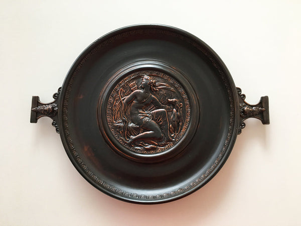 Black Terra Sigillata Patera with Goddess Diana