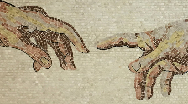 The Creation of Adam Mosaic (Fragment)