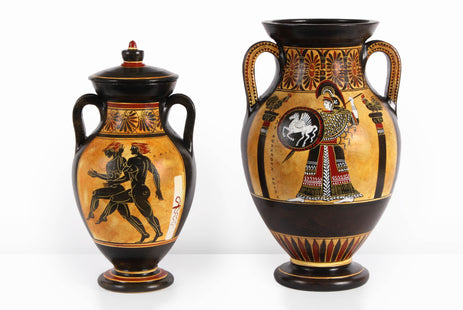 Ancient Greek Black-Figure Belly Amphora with Athena & Heracles