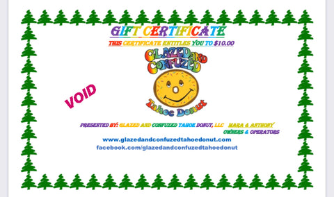 3.) Digital Gift Cards (Redeemable online ONLY)