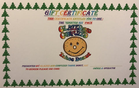 6. GIFT CERTIFICATES