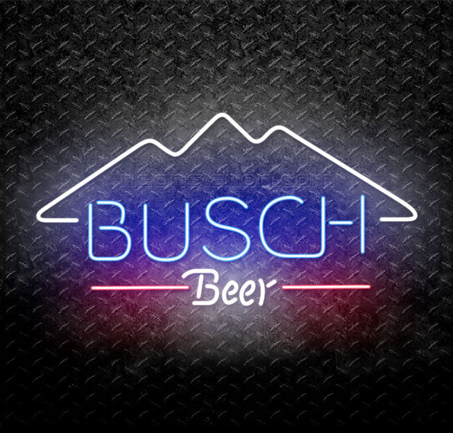 Busch Beer Mountain Neon Sign