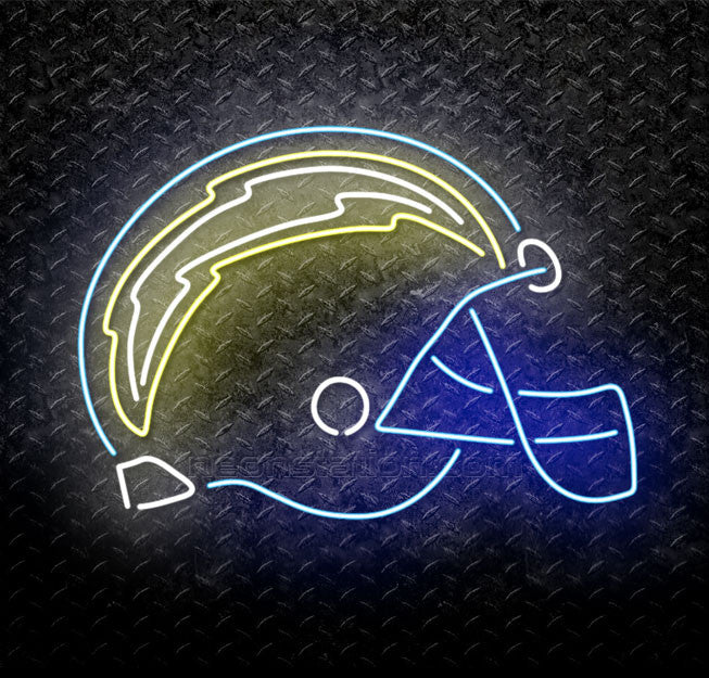 NFL San Diego Chargers Helmet Neon Sign