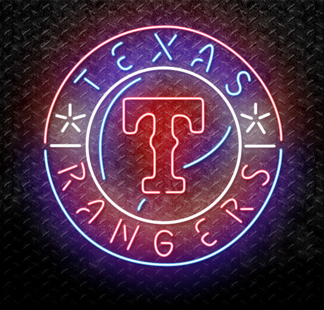 MLB Texas Rangers Neon Sign