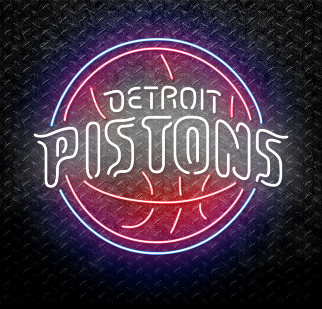 NBA Detroit Pistons Neon Sign