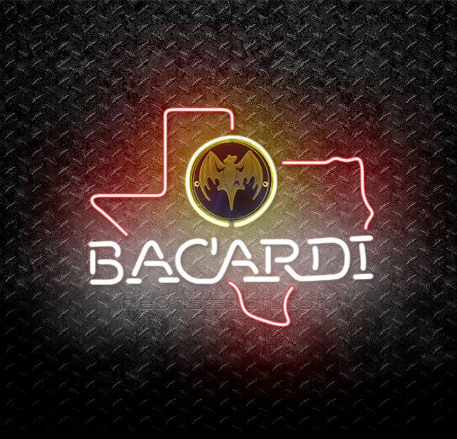 Bacardi Texas State Neon Sign