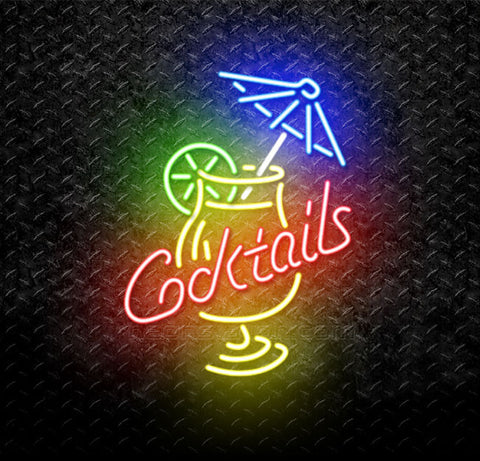 Cocktails Margarita Neon Sign