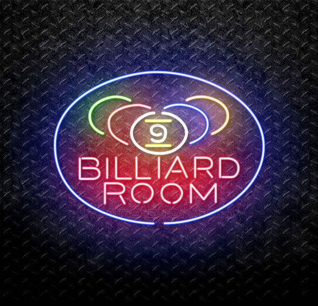 Billiards Room 9 Ball Neon Sign