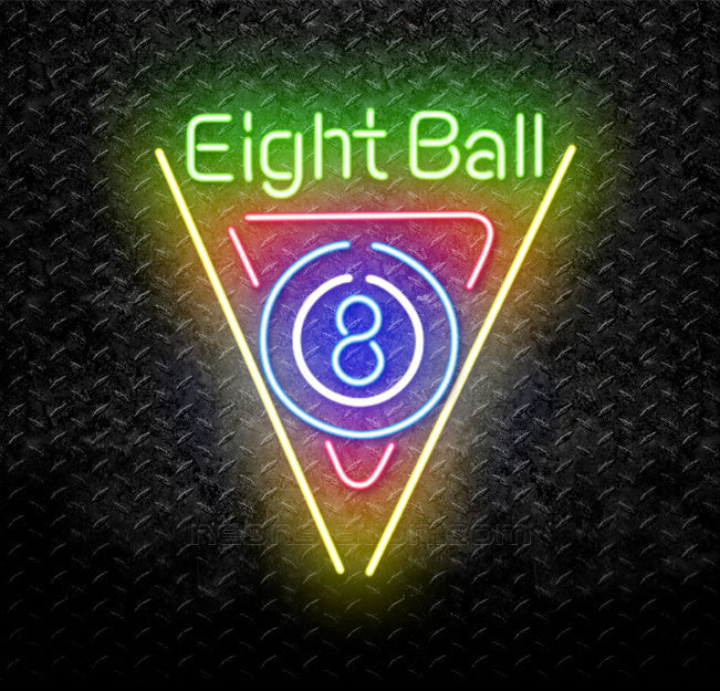 Billiards 8 Ball Pool Neon Sign
