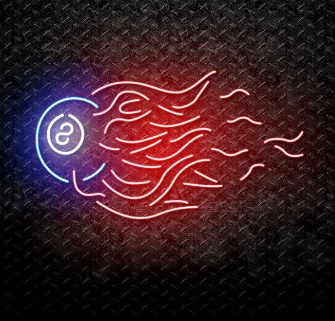 8 Ball Quick Fire Pool Neon Sign