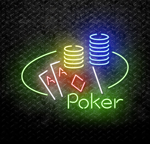 Poker Stack Neon Sign