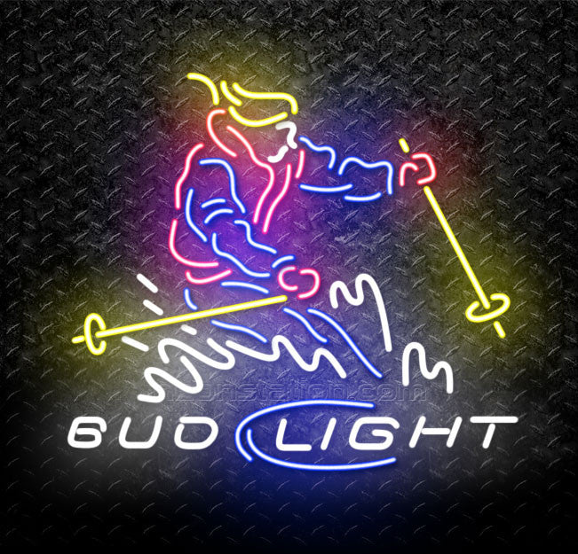 Bud Light Ski Neon Sign