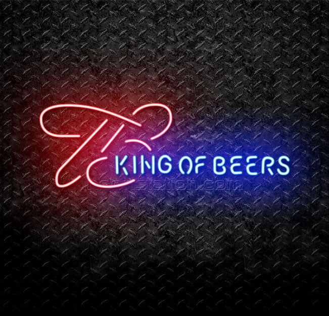 Budweiser King of Beers Neon Sign