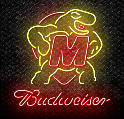 NCAA Maryland Terrapins Budweiser Neon Sign