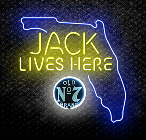 Jack Daniels Jack Lives Here Florida Neon Sign