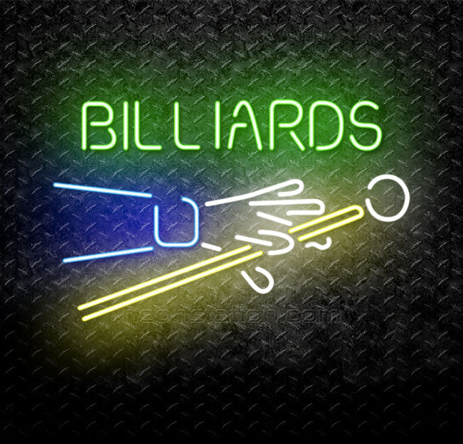 Billiards Pool Snooker Neon Sign