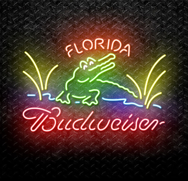 Budweiser Florida Gator Neon Sign
