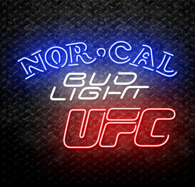 Bud Light Norcal Northern California UFC Neon Sign