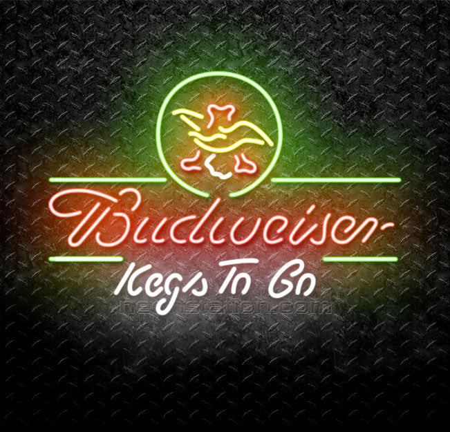 Budweiser Kegs To Go Neon Sign