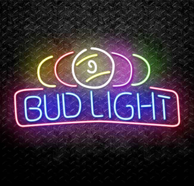 Bud Light Pool Ball Neon Sign