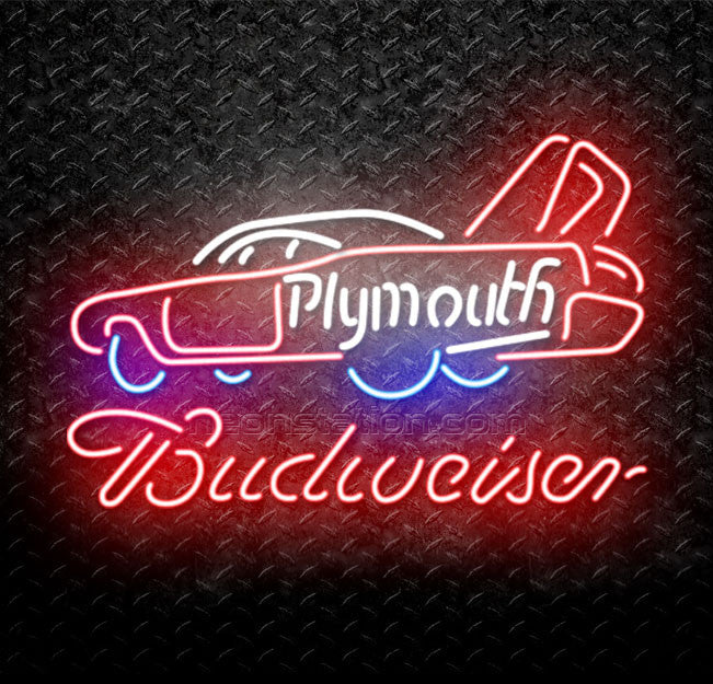 Budweiser Chrysler Plymouth Neon Sign