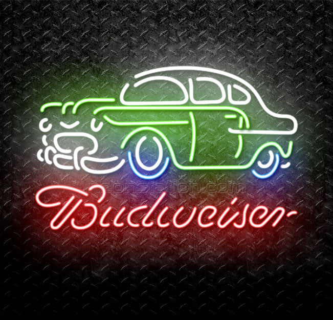 Budweiser Classic Car Neon Sign