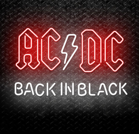 ACDC AC/DC Back In Black Neon Sign