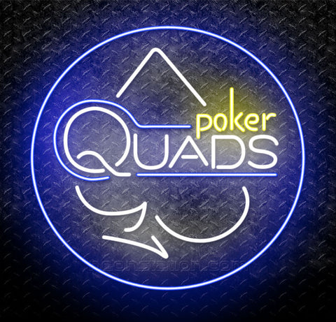 Poker Quads Neon Sign