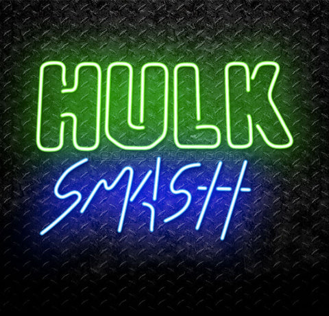Hulk Smash Scenes Neon Sign