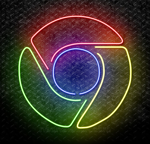 Google Chrome Logo Neon Sign