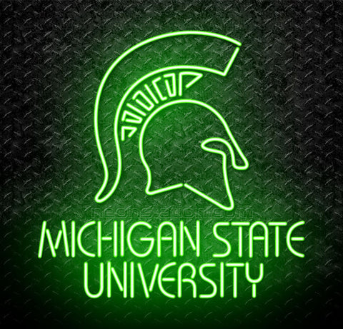Michigan State University MSU Trojan Neon Sign