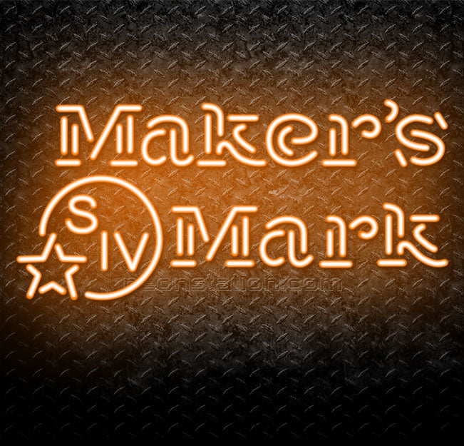 Maker's Mark Kentucky Straight Bourbon Handmade Whisky Neon Sign