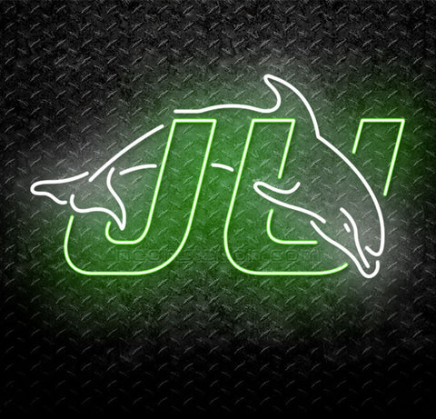 NCAA Jacksonville University JU Dolphins Neon Sign