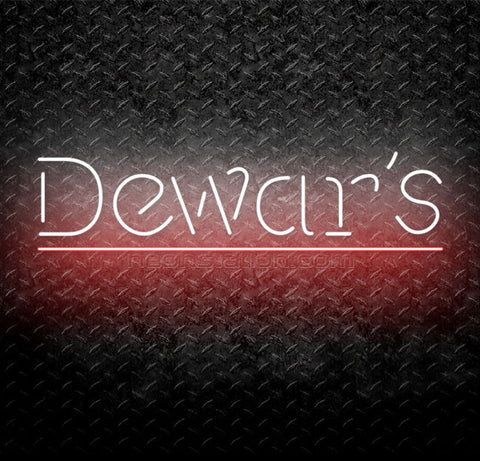 Dewar's Scotch Whisky Neon Sign