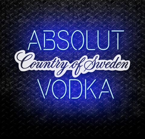 Absolut Vodka Country of Sweden Neon Sign
