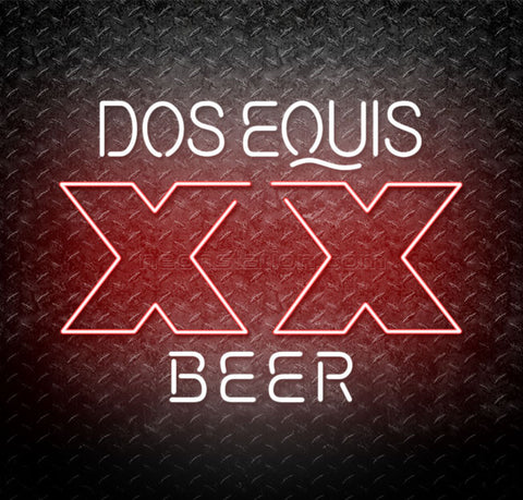 Dos Equis Beer XX Neon Sign