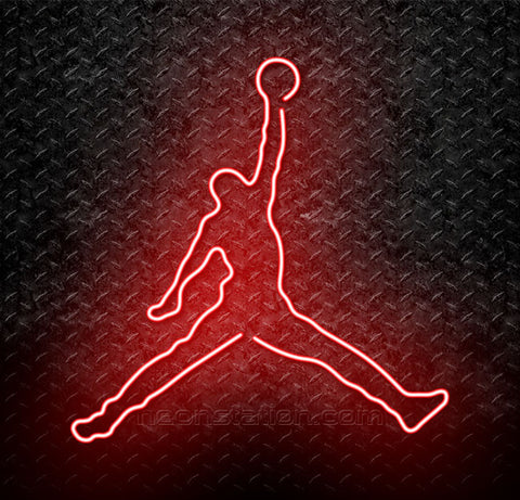 NBA Michael Jordan Jumpman Logo Neon Sign