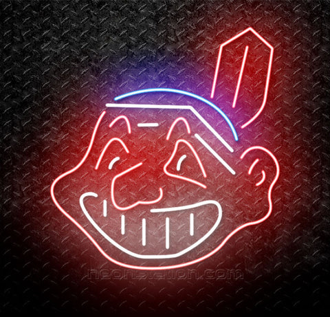 MLB Cleveland Indian Neon Sign