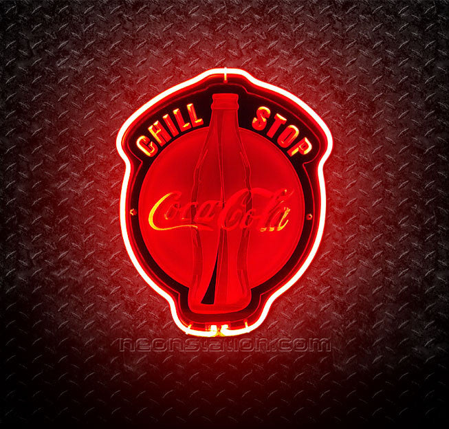 Coca Cola Coke Chill Stop 3D Neon Sign