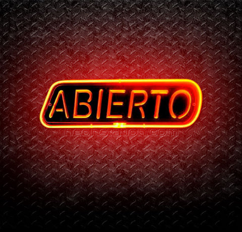 Abierto Open 3D Neon Sign