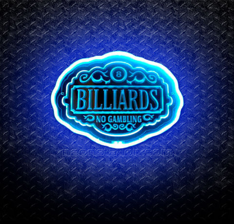 Billiards No Gambling 3D Neon Sign