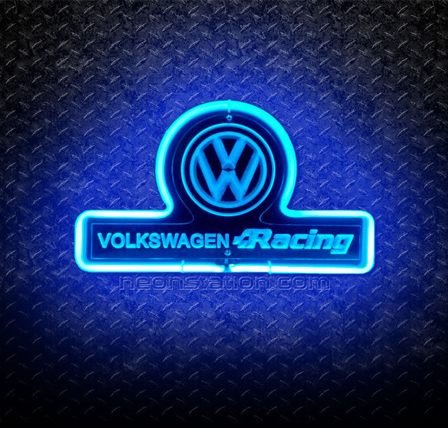 Volkswagen Racing 3D Neon Sign