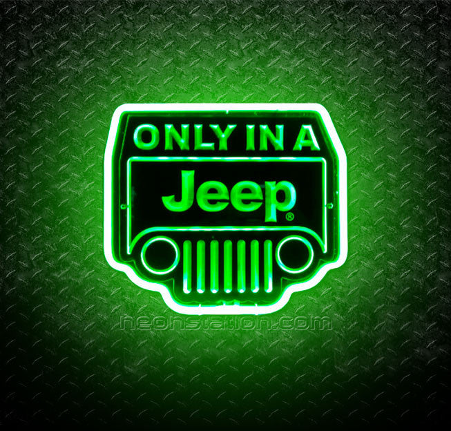 Only In A Jeep 3D Neon Sign