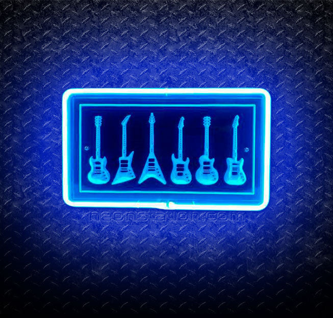 Guitars 3D Neon Sign