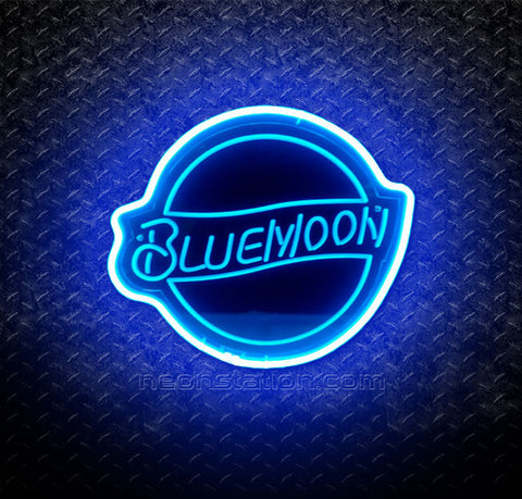 Blue Moon 3D Neon Sign
